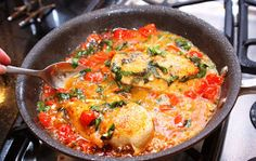 Menu Musings of a Modern American Mom: Tomato Basil Chicken