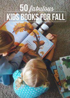 Great list of 50 fabulous kids books for Fall. #reading #kids #books