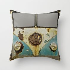 VW Rusty Outdoor Throw Pillow by Alice Gosling - $20.00