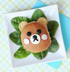 """Check out these """"Beary"""" Cute Burgers from Jill Dubien for a kid-friendly dinner on the grill. Yum!"""