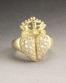 Diamond / 18k Yellow Gold Ring ~~~ Kieselstein-Cord