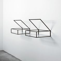 glass boxes, glasses, ron gilad, open box, wall shelves, storage design, display cases, storage ideas, jewellery display