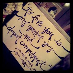 Canvas quote for table with guestbook
