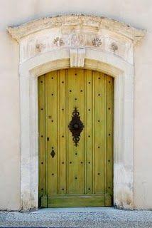 the doors, green doors, chartreuse, arch, door colors, front doors, lime, old doors, provence france