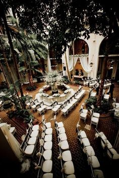 Hotel Mazarin courtyard venue