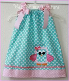 baby girl owl dress..OMG i love this!! hopefully i have a little girl in the future so I can make this for her =)