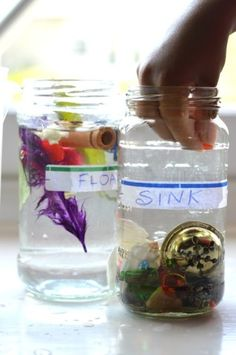 float sink experiments for kids #kids #science #waterplay