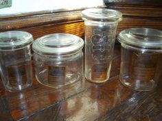 antique Weck jars