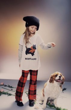 Focus on Scotland for the Wilfox Kids Brit collection fall/winter 2014