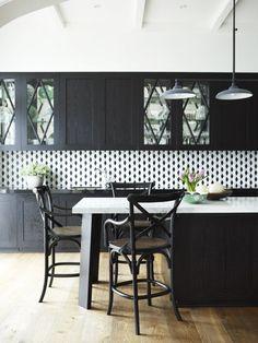 Diamond tile kitchen