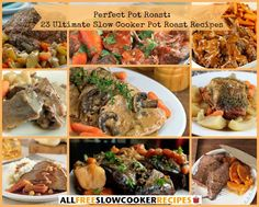 Make awesome slow cooker pot roast recipes with help from our collection, Perfect Pot Roast: 23 of The Ultimate Slow Cooker Pot Roast Recipes.
