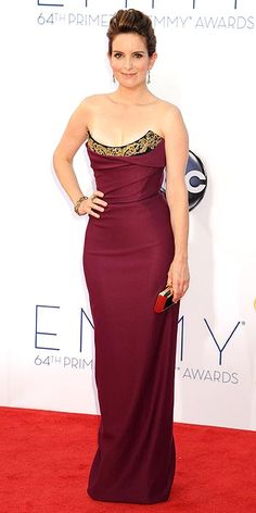 Tina Fey at the Emmys. Funny lady, great dress.