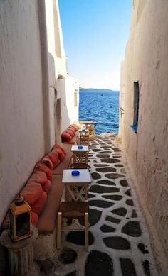 Seaside Cafe, Mykonos, Greece | See More Pictures