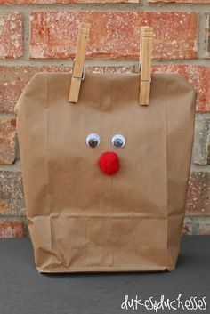 cute reindeer gift bag for your #Christmas #party treats