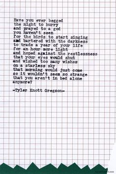 Typewriter Series #608 by Tyler Knott Gregson