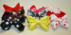 Coordinating  removeable hair clip bows for my shoes by Snanimals