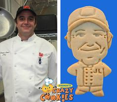 Company party - Employee of the month - #Bakery #Chef - Custom Cookies - Edible Favors - Hat & Chef Coat - Fun Celebration
