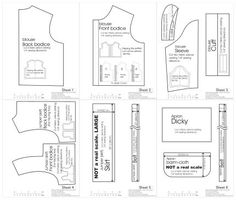 lots of detailed patterns for sewing doll clothing