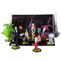 Tim Burton's The Nightmare Before Christmas Figure Play Set -- 7-Pc.