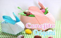 Brotes de Creatividad: Conejito origami porta huevos *Pascua*