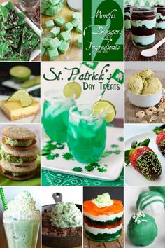 12 Bloggers share 12 Delicious Saint Patrick's Day themed goodies!