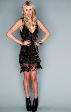 Show Me Your Mumu Saucy Fringe Dress ~ Python Velvet Burnout
