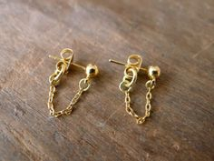DIY Chain Connector Earrings