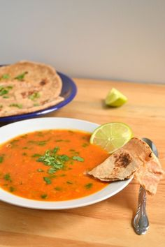 Tomato and Red Lentil Bisque #vegan