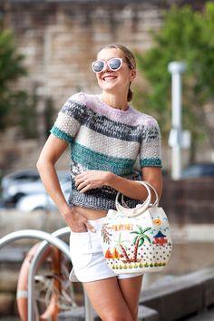 Sydney Fashion Week Spring 2012 Street Style - cropped sweater