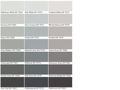Sherwin Williams Paints - Sherwin Williams Colors - Sherwin Williams Paint, Essentials House Paints Colors - Paint Chart, Chip, Sample, Swatch, Palette, Color Charts - Exterior, Interior, Wall