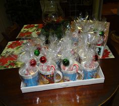 Check Out These 16 Semi Homemade Gifts I Made Under $25 Dollars! Christmas Mugs with Hot Cocoa and Candy Canes! #DIY #homemade #Christmas #gifts
