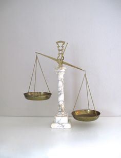 Antique Alabaster Justice Scale by elefantdesign on Etsy, $85.00