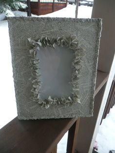 ruffled frame... on etsy