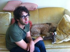 """""""Most of the time my dog wants to play when I'm sleeping, but sometimes the tables are turned.""""  - Josh Groban"""
