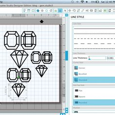 How to make DIY 3D Gems with your Silhouette
