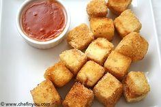 crispy fried tofu with sweet chili sauce