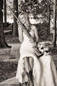"9 ""Shotgun Wedding"" photos that are literal and adorable"