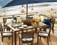 awesome outdoor table and umbrella
