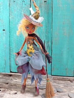Boho Witch Monster High Clawdeen doll repaint by by Marinart
