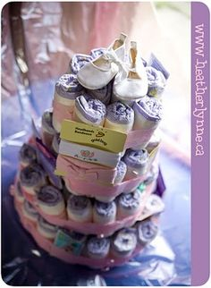 How to make a diaper cake.