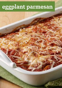 Eggplant Parmesan -- Layer tender eggplant with marinara, Parmesan, mozzarella cheese and fresh mushrooms, and in just 10 minutes, this healthy living Italian recipe is ready to bake.