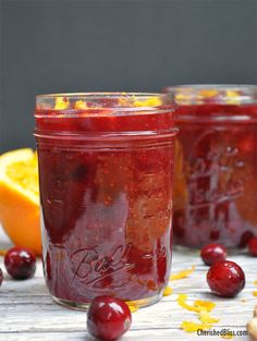 The perfect Homemade Cranberry Sauce Recipe with Orange for your Thanksgiving meal! You will love this!!