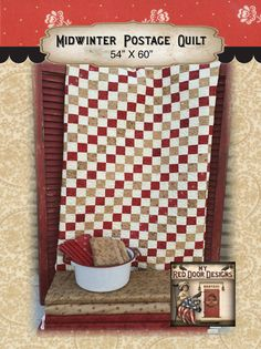 Midwinter Postage Quilt kit by myreddoordesigns on Etsy, $55.00