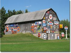 """This is a fairly famous barn, we call it """"The Oil Barn,"""" located on Hwy 52 heading out of Wausau, Marathon County. Quite appropriate for today, a reminder of what built this country and what we need more of from our own shores."""