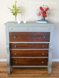 Elegant Empire Dresser with Glass Knobs