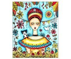 Frida Kahlo Fine Art Giclee Print Reproduction by maryannfarley, $18.00