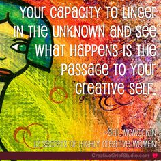 We've added narrative prompt to the latest share about exploring the Unknown. When we can linger with the unknowns of grief, we enter the space of creativity. Explore a little there today yourself:  http://griefcoachingcertification.com/2014/08/linger-in-the-unknown/