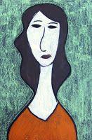 Modigliani Inspired Self-Portraits - done these....super fun