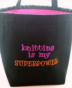 Knitting is my superpower!