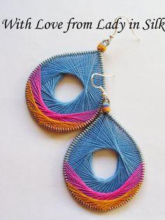 TOTAL SALE Summer Dream Peruvian Thread Earrings. $15.90, via Etsy.